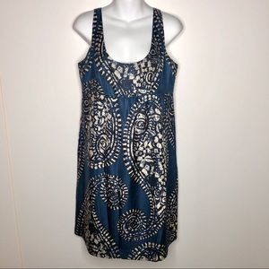 Michael Kors Silk Dress Empire Waist Paisley